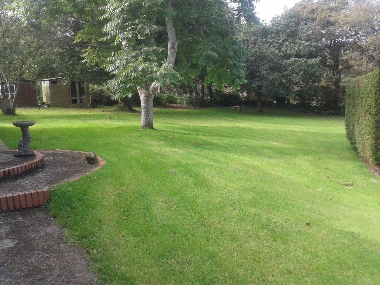 Back garden, very private