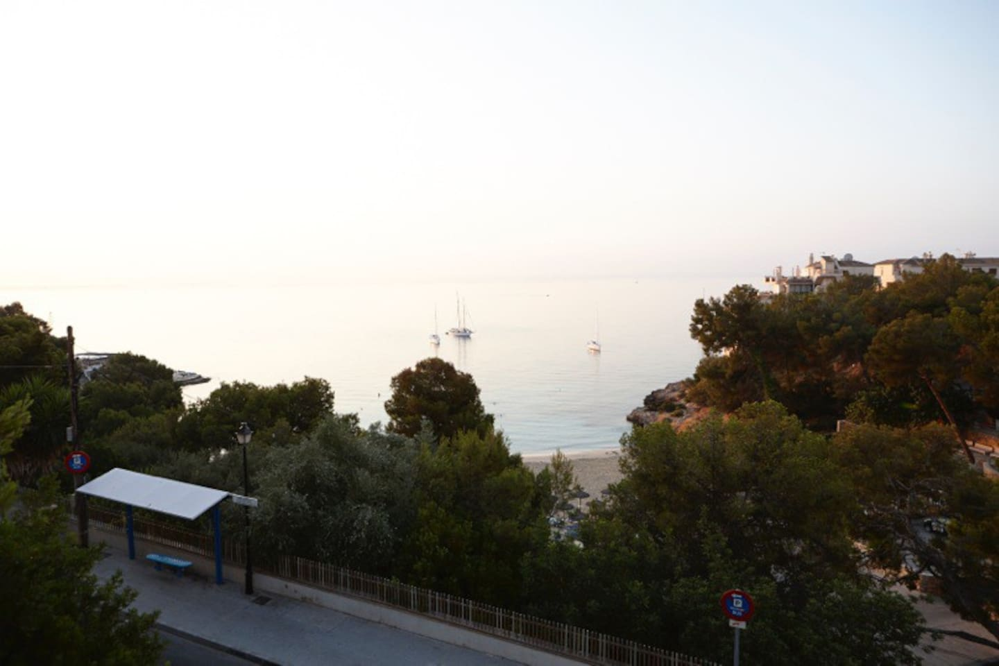 View from the balcony to the sea