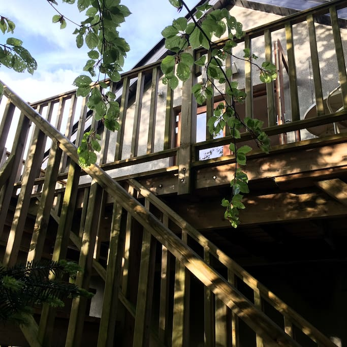 Private Stair/ Balcony Access to Apartment