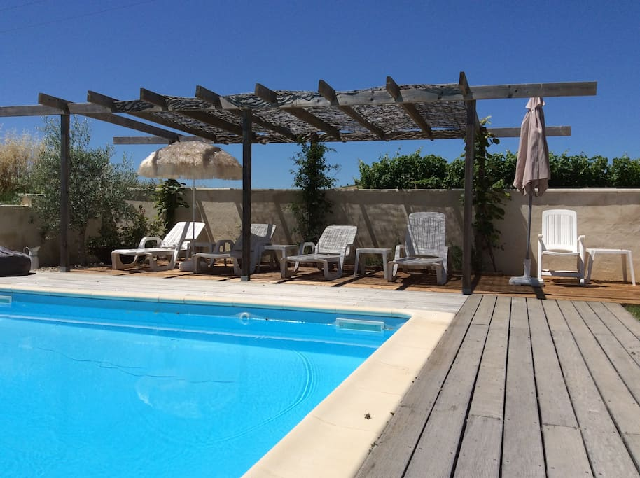 South of france 2 bedrooms with pool houses for rent in for Camping sud france avec piscine