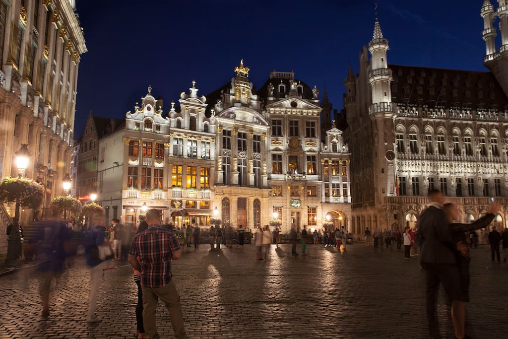 An outside view of the Grand-Place residence on one of the world famous squares