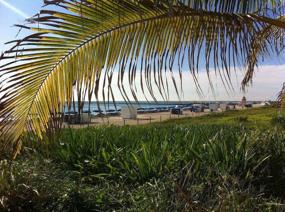 The ocean boardwalk is just 5 minutes away