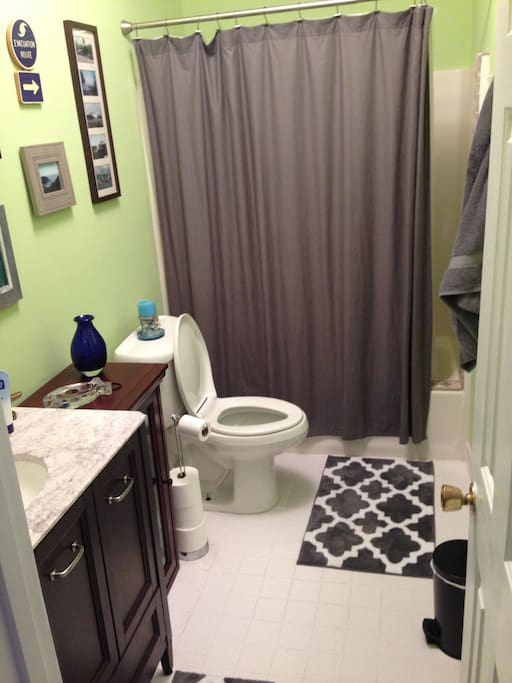 Full bathroom, clean and updated.