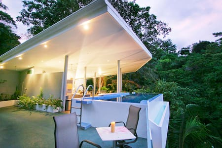 Casa Elsa is a 4 bedroom exclusive luxury vacation rental home located in Manuel Antonio, Costa Rica. It combines 7500 sq feet of tropical paradise with the convenience and amenities that are sure to satisfy even the most discriminating holidaymaker.