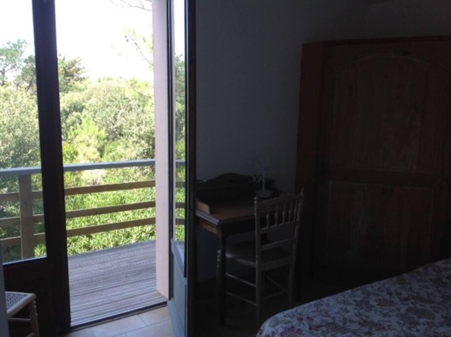 Balcon chambre 1