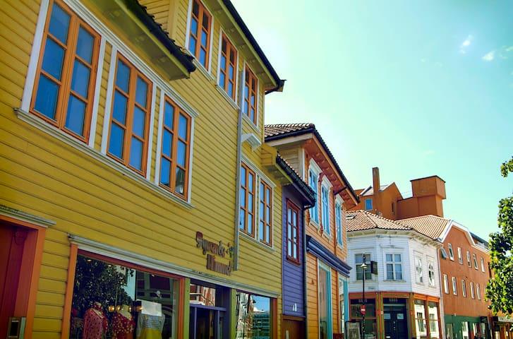 Prettiest street in the very centre of Stavanger - Stavanger - Byt