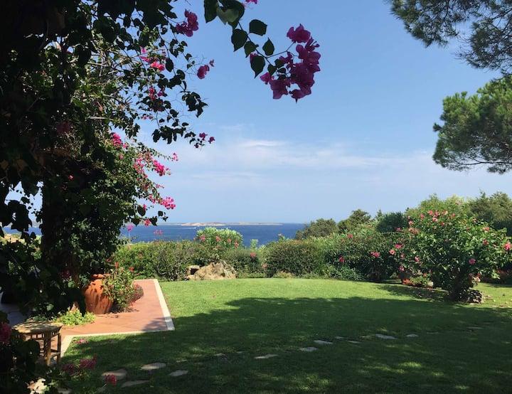 villa with garden and breathtaking sea view