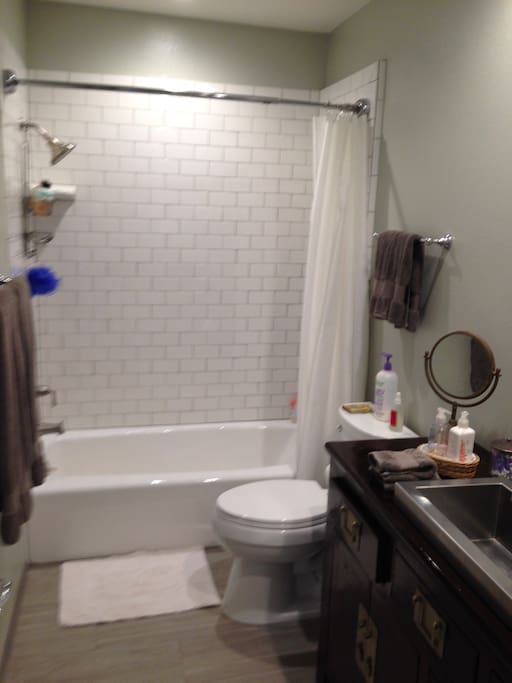 Newly renovated, private, guest bathroom.