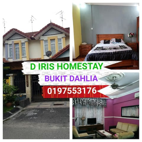 D IRIS HOMESTAY BUKIT DAHLIA - Pasir Gudang - House
