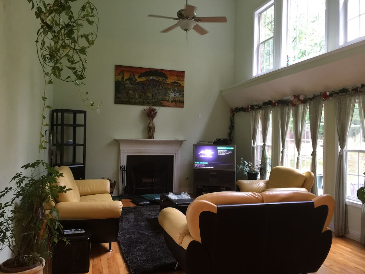 spacious living/family room