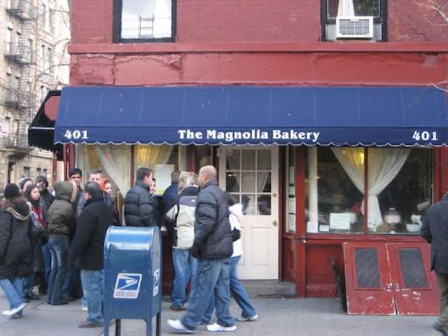 Magnolia Bakery accross the street