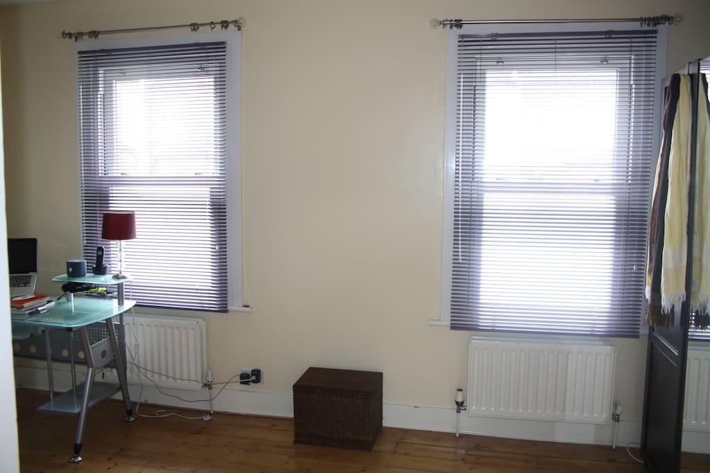 Large windows for plenty of light