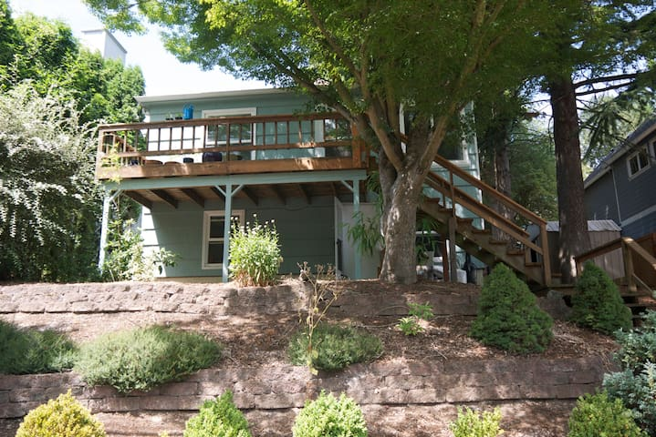 Outside Shot (space is lower apartment - entrance below deck)