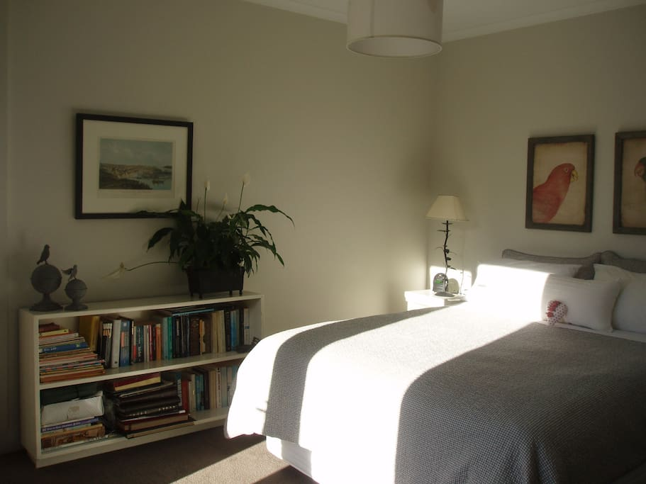Your bedroom with too much sun for a perfect shot!