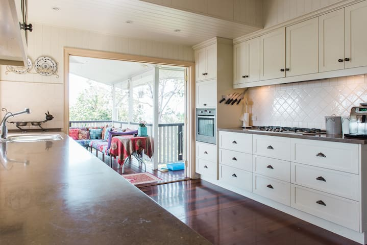 Large gourmet kitchen to share