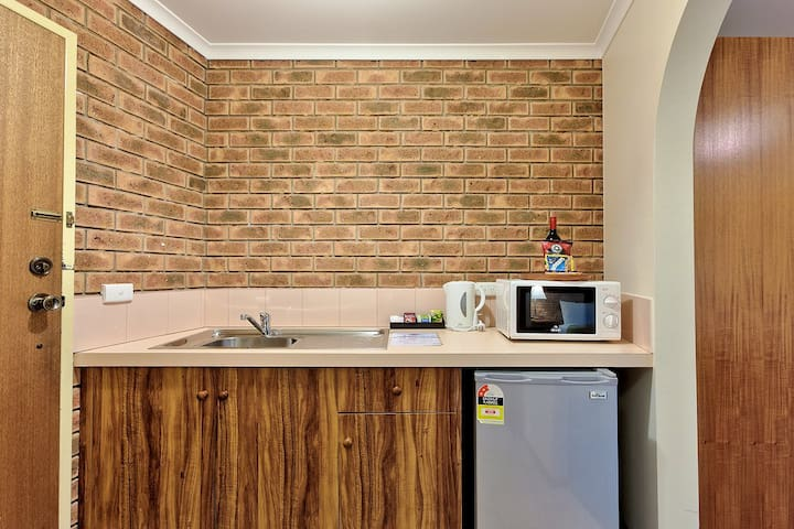 Your kitchenette including a mini bar. No cooking facilities except for microwave.