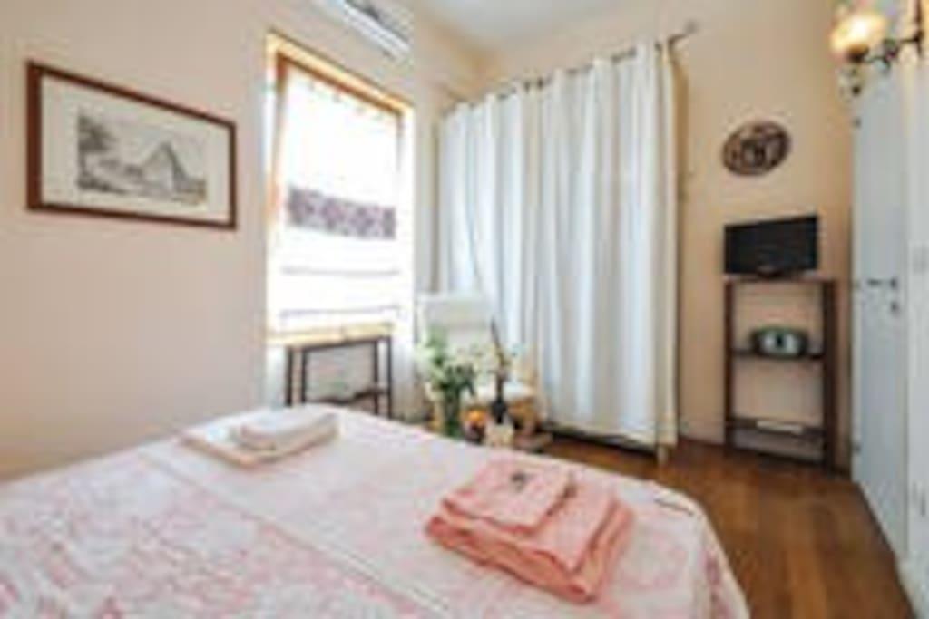 Stanza ROSA, dotata di aria condizionata, tv lcd e bagno padronale.