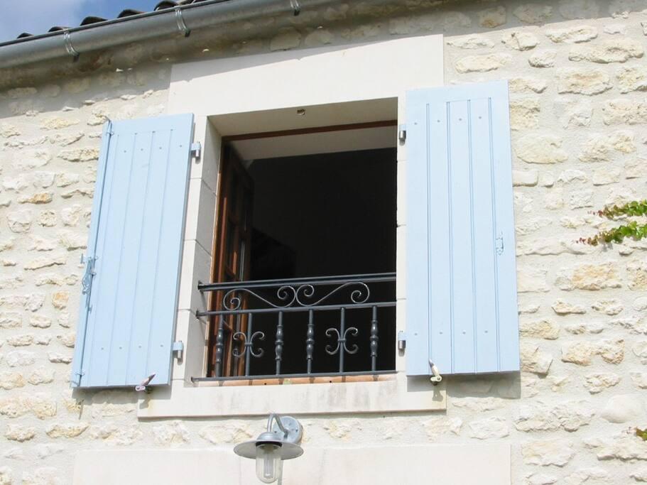 Bedroom window from patio