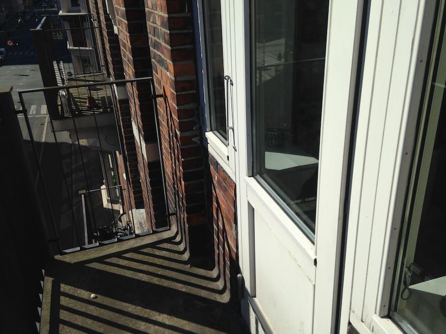 the smallest balcony.