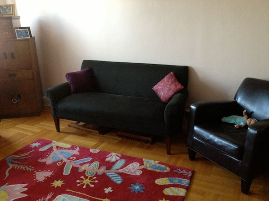 This is the smaller of the two couches.