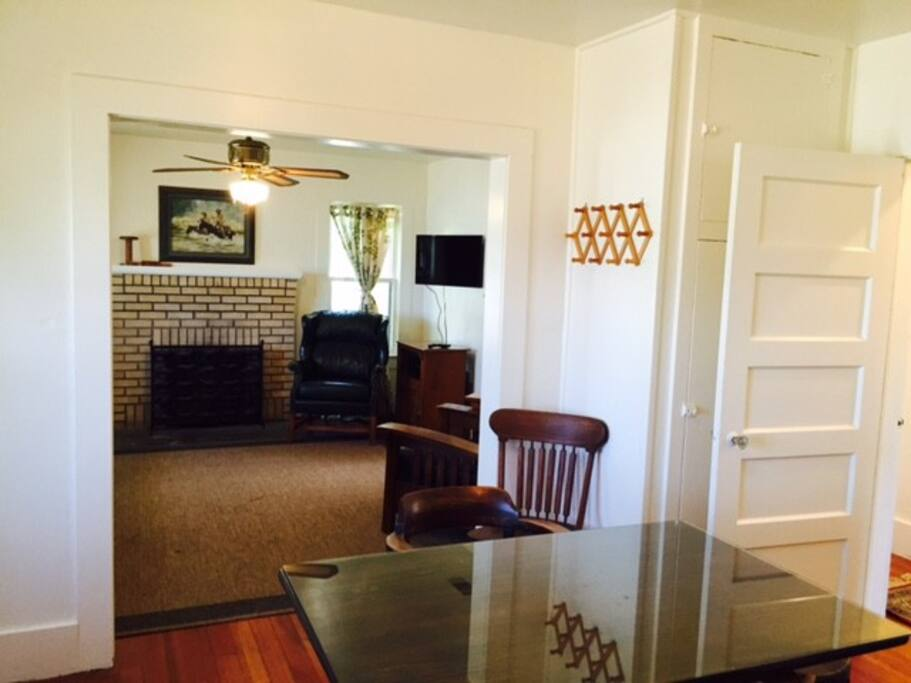 Dining room looking into the living room