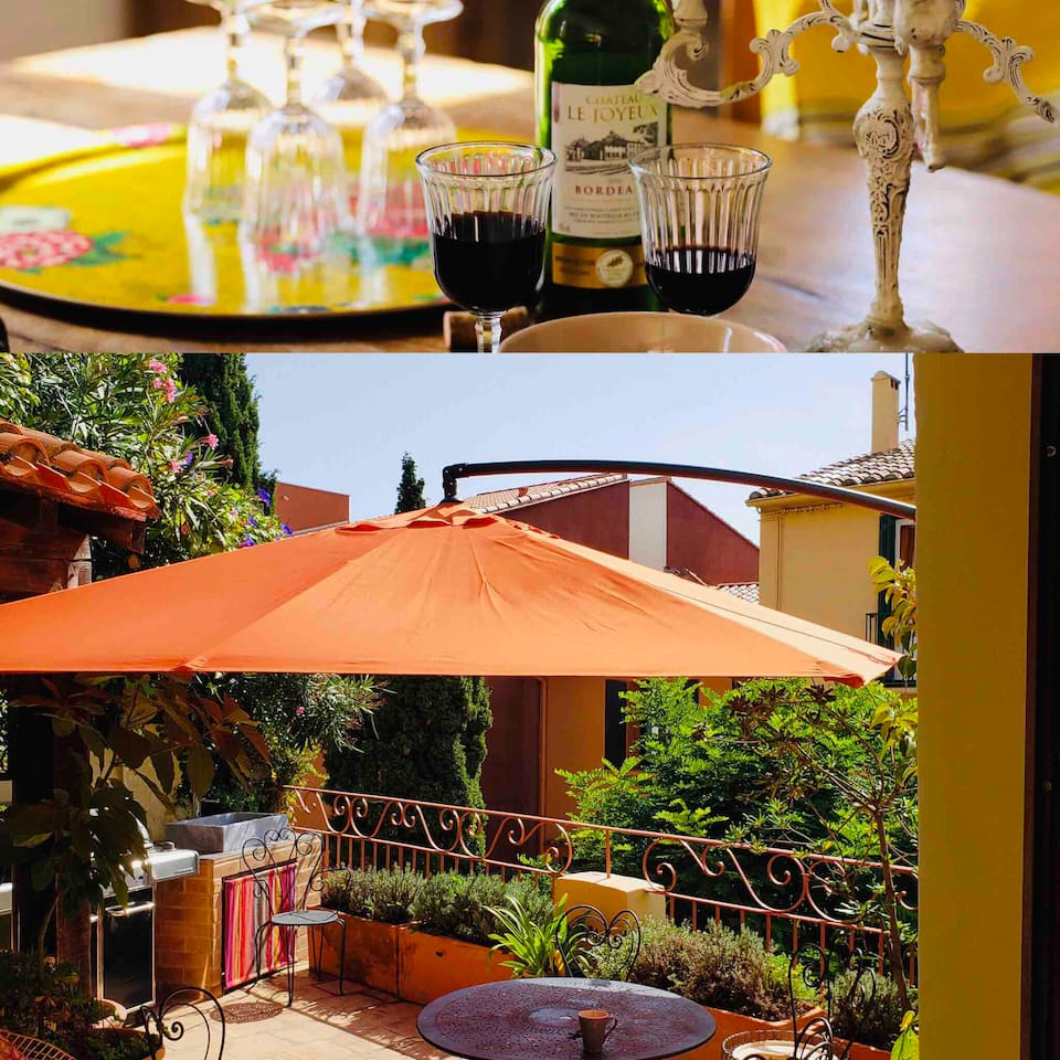 Spacious indoor and outdoor entertaining areas. Apartment just across the road from the market place. Very private and calm but able to enjoy the hum of village life.
