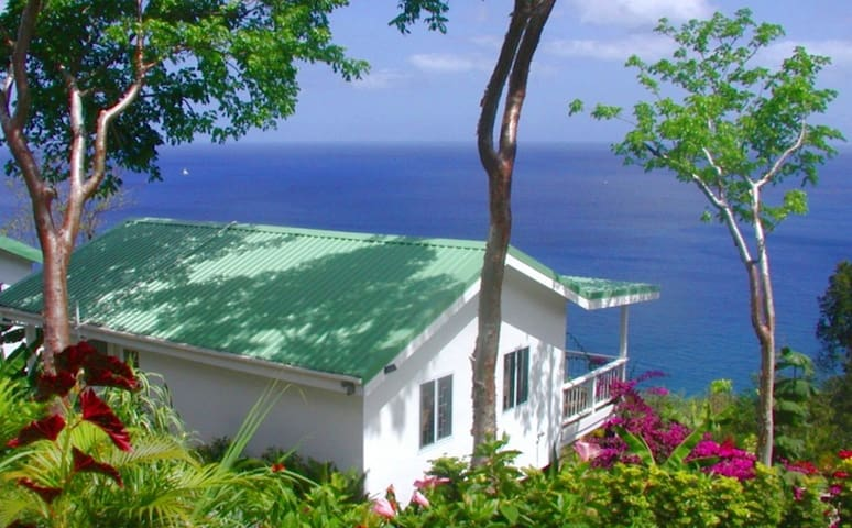 AVOCADO COTTAGE: SEA VIEWS, PRIVATE COTTAGE. - Marigot Bay - Rumah
