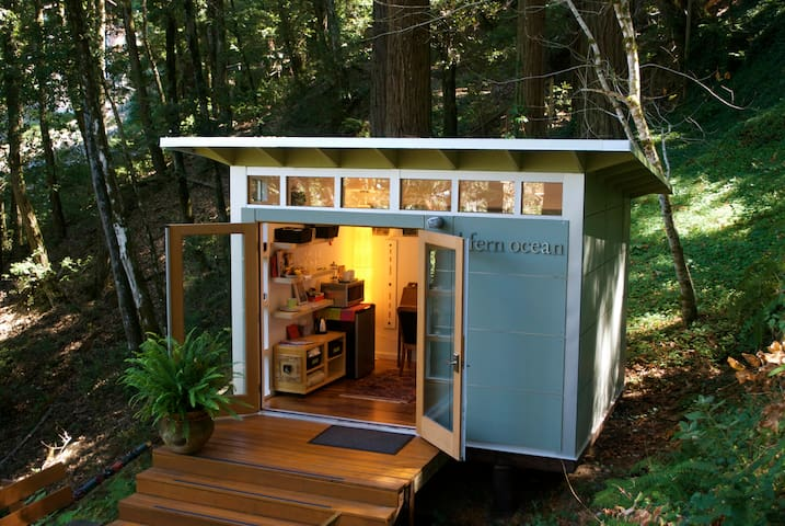 Romantic studio in the California redwoods. - Woodside - Stuga
