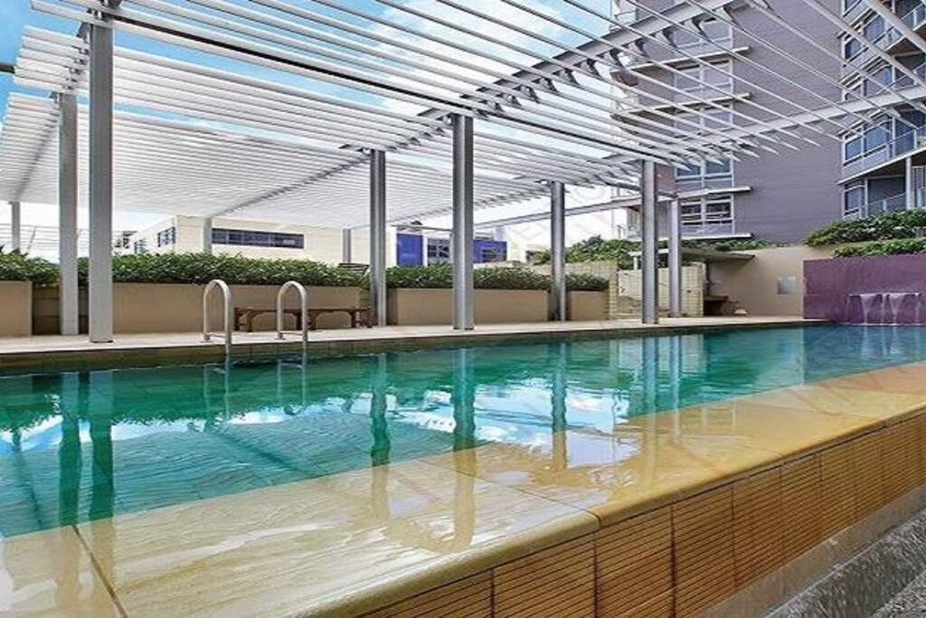 Outdoor sea-salted heated pool