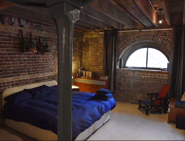 A large double room penthouse loft