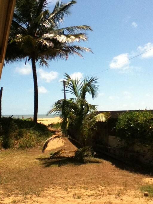 accès direct sur la plage