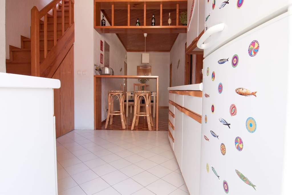 kitchen and dining room/hall