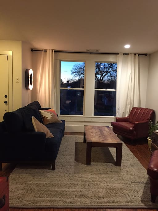 Comfy living room (TV not pictured)