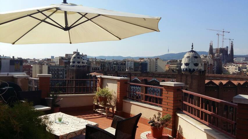 A'TIC ..penthouse :) - Barcelona - Daire