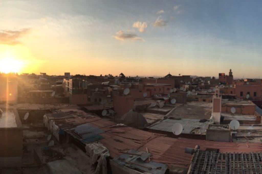 L'imprenable vue de la médina de Marrakech à découvrir...