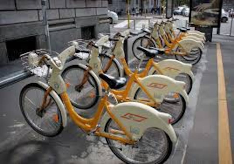 Bycicle and any metro/bus available in neirby