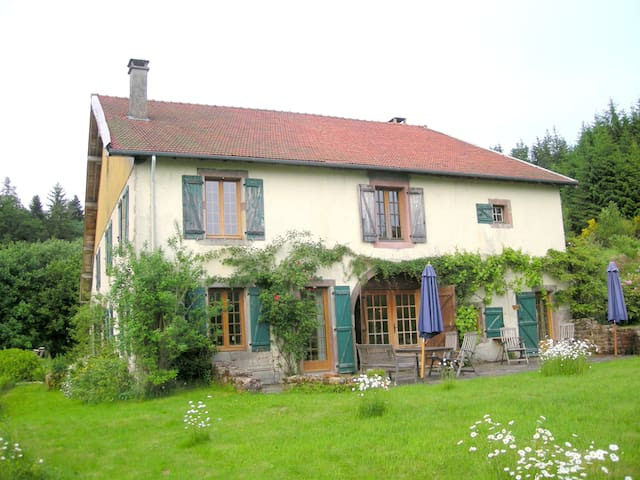 Boerderij  met openhaard en zwembad - Raon aux Bois - Haus