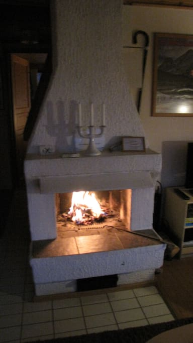 The fire-place