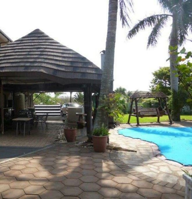 Lapa area with built in braai/barbeque