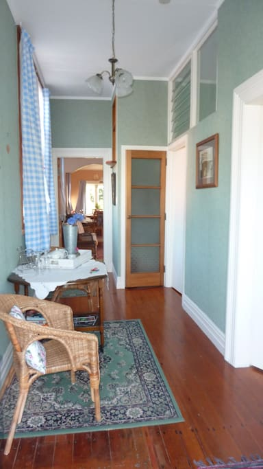 Private entrance and hallway to your rooms.