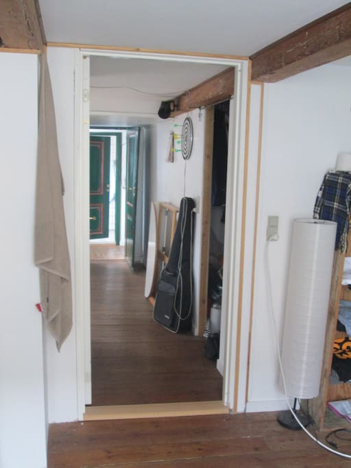 View from room into living room / hall area
