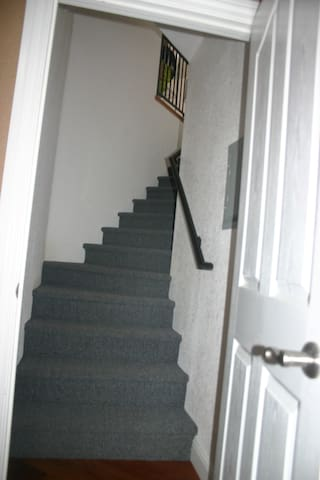 Stairs to private loft
