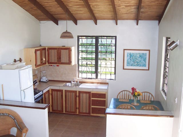 A fully equipped kitchen makes preparing your own meals a breeze.
