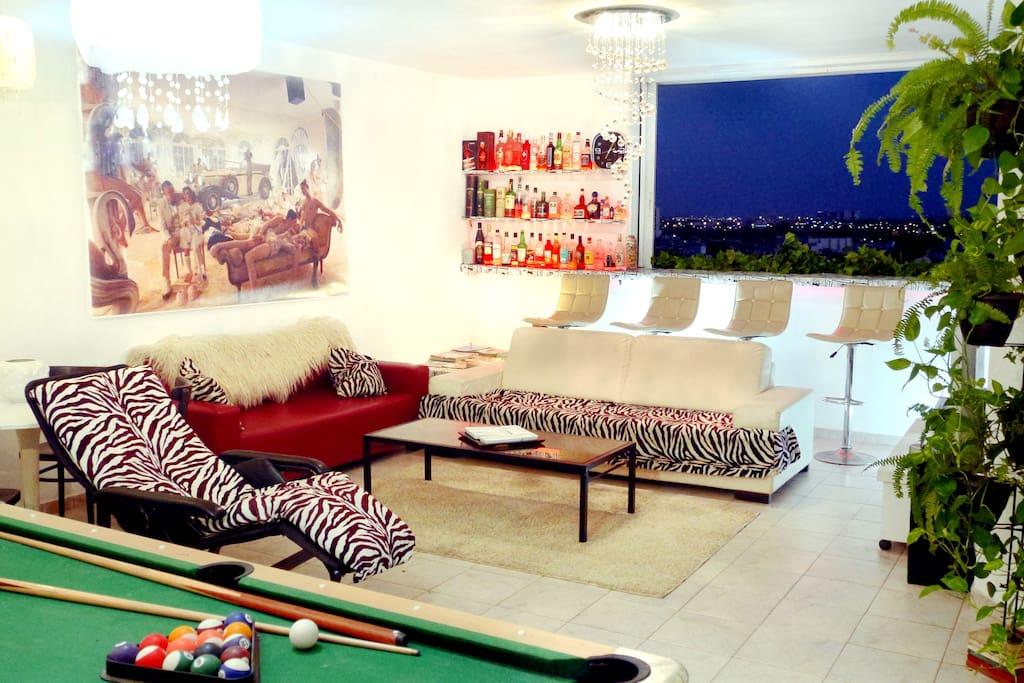 Very Spacious Modern Design Living Room