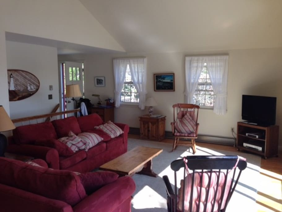 Great room with spectacular views of the pond during the day and the stars at night
