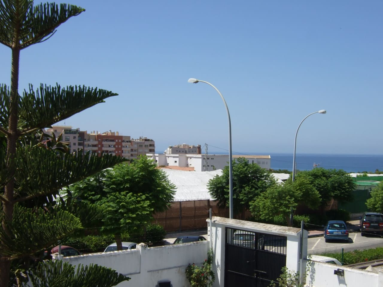 Sea view from studio apartment terrace