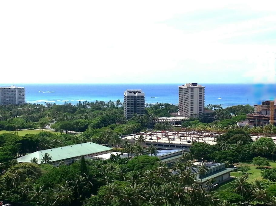 Unobstructed views of the ocean and park.