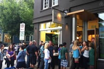 The popular ice cream shop.. Salt & Straw