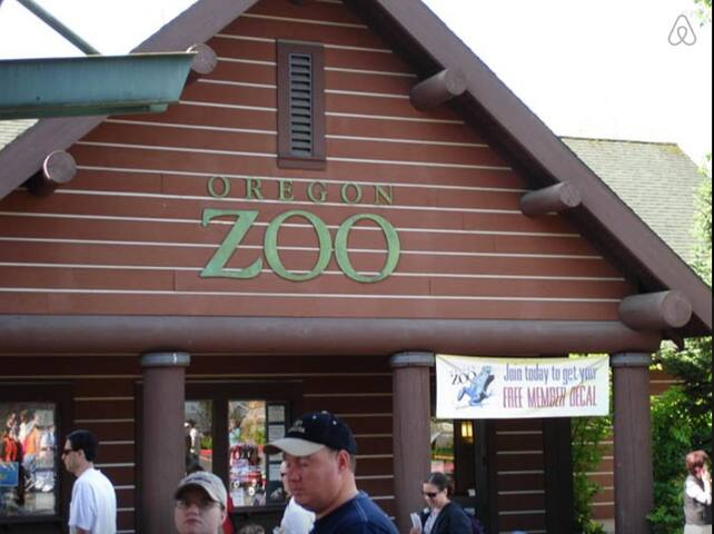 Oregon Zoo a short 2 mile walk away.
