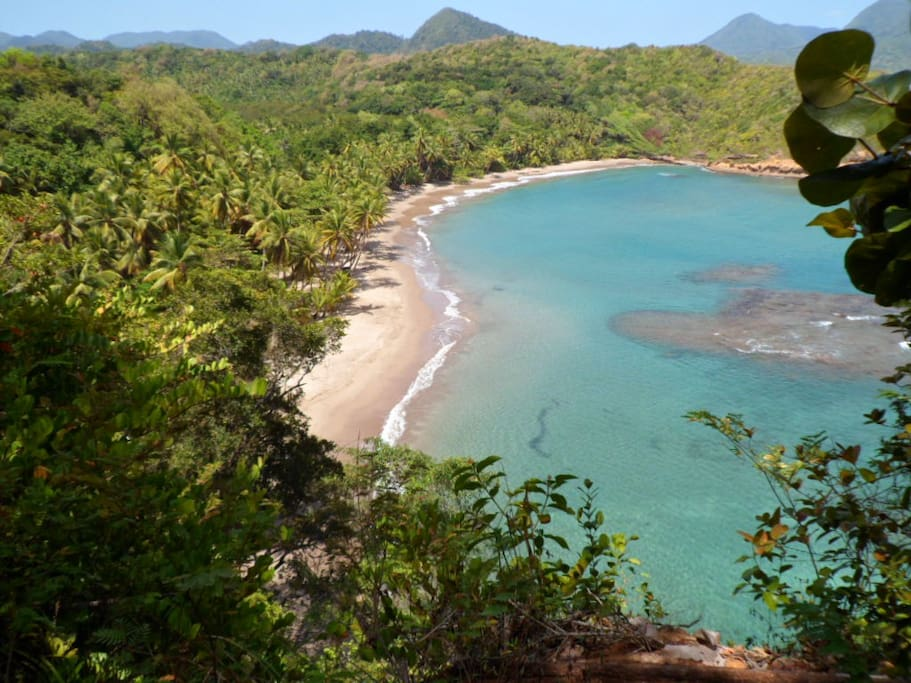 Batibou beach nearby and the best beach in Dominica. The place is just Paradise. About 3 minutes drive away from the cabin.